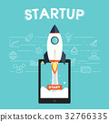 startup, illustration, icons 32766335
