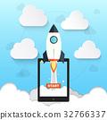 Rocket symbol for startup business illustration  32766337