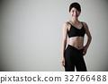 여성 다이어트 복근 젊은 여성 피트니스 스포츠 운동 32766488