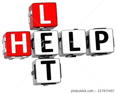 3D Let Help Crossword 32767483