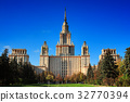 Moscow State University against clear blue sky 32770394
