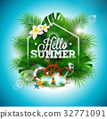 Summer Time Holiday typographic illustration 32771091