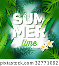 Summer Time Holiday typographic illustration 32771092