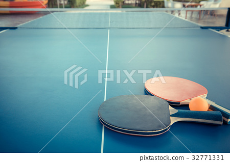 Tabletennis or ping pong rackets and balls 32771331