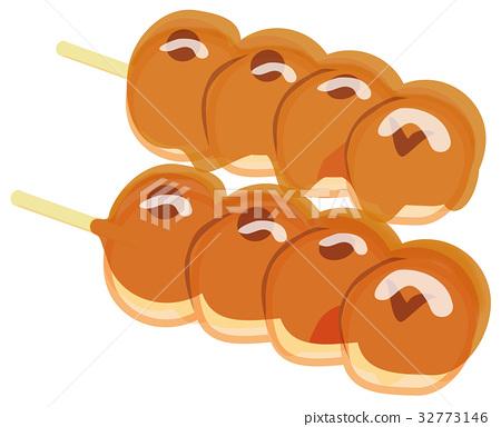 Mitarashi dumpling 32773146