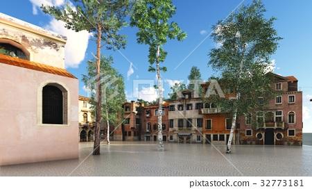 picturesque city in Italy 3d rendering 32773181
