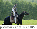 Medieval knight in armor on horseback 32773853