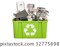 recycling trashcan with household and appliances 32775698