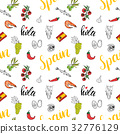Spain seamless pattern doodle sketch vector 32776129