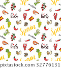 Spain seamless pattern doodle sketch vector 32776131