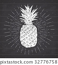 pineapple vintage vector 32776758