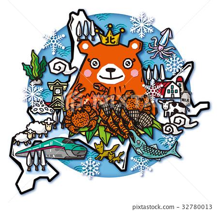 北海道 illustration 數字動畫 32780013