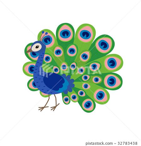 cute peacock cartoon stock illustration 32783438 pixta pixta
