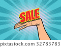 sale, word, hand 32783783
