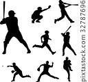 baseball silhouettes collection 2 32787696