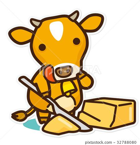 소와 유제품 버터 32788080