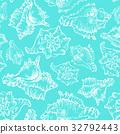 海貝 海 草圖 32792443
