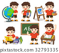 Back to school. A cute student study in school 32793335