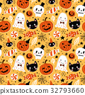 Halloween holiday seamless pattern background 32793660
