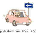 Elderly driver who reverses one way 32796372