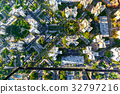 Aerial view of buildings on near Wilshire Blvd in 32797216