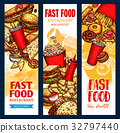 fast, food, banner 32797440