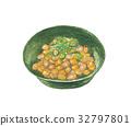 natto, fermented soybeans, aquarelle 32797801