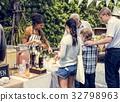 Organic fresh agricultural lemonade stand at farmer market 32798963