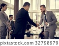 Business Partners Introductionary Handshake Bow 32798979
