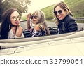 Group of Diverse Friends Travel on Road Trip Together 32799064
