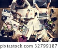 Business Colleagues Together Teamwork Working Office 32799187