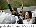 Group of Diverse Friends Travel on Road Trip Together 32799333