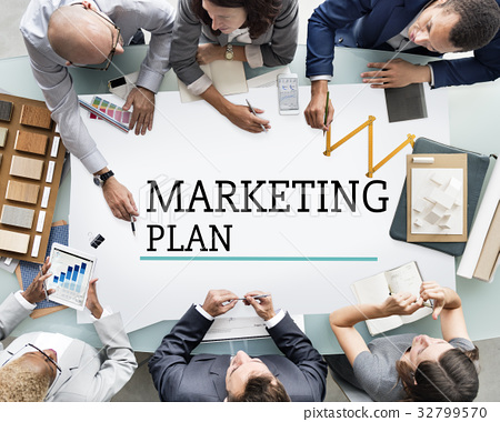 Business Marketing Plan Goal Setting Strategy Graphic 32799570
