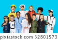 Group of Diverse Kids Wearing Career Costume Studio Portrait 32801573