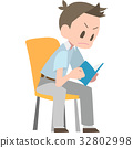 reading, male, man 32802998