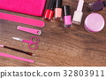 Cosmetics and accessories for manicure or pedicure 32803911