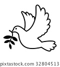 Dove carrying olive branch 32804513