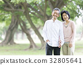 คู่ oshidori อาวุโสสีเขียวสด 32805641