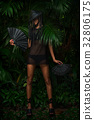 Fashion woman in black 32806175