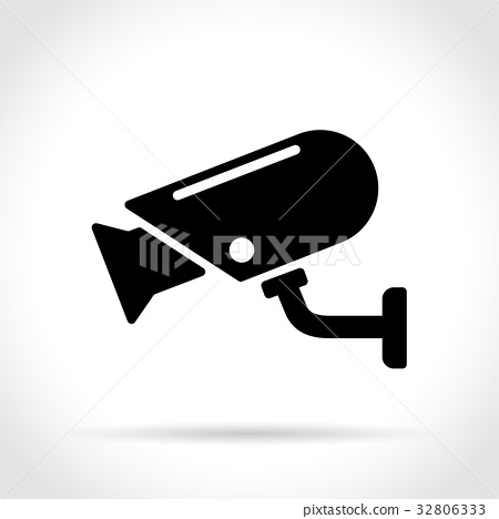 security camera icon on white background 32806333