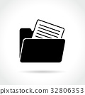 folder icon on white background 32806353