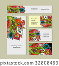 card, vector, template 32808493