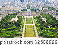 View on Champ de Mars from the Eiffel Tower. 32808999