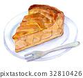 水彩例證食物蘋果餅 32810426