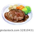 hamburger steak, food, foods 32810431