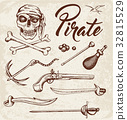 Weapons of pirates. 32815529