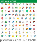 100, mail, icon 32819201