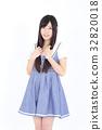 年轻的女士时尚肖像 32820018