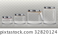 Set of vector transparent glass jars for storage 32820124
