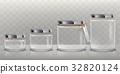 Set of vector transparent glass jars for storage 32820124
